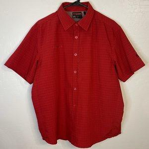 Mammut Red Plaid Short Sleeve Button Down Shirt